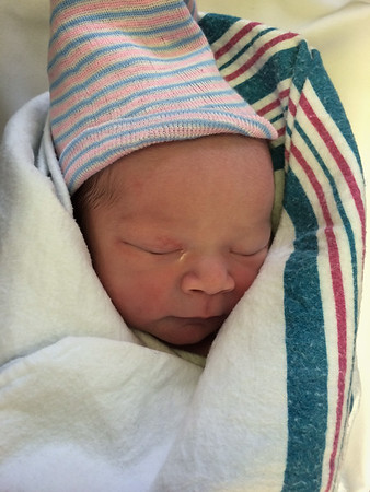Cameron Huy Emerich, shortly after birth, April 2, 2014.