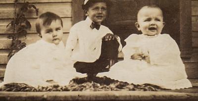 Charles, Roy and Wayne Schrack, around 1914-15.