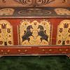 Chest belonged to Wayne Schrack, Sr., artwork by Michael Schrack.
