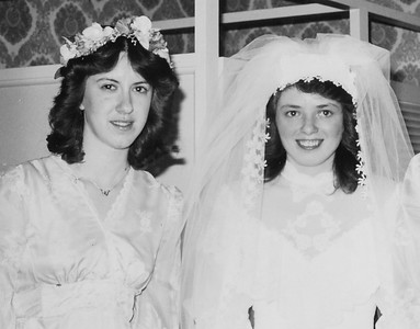 L-R: Lori Grim (later Moyer), Beth (Hill) Humma wedding day, Rebecca Zemkin (from Johnstown NY).