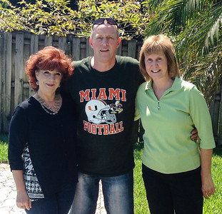Jill (Werner) Hamburger (left) with Erich & Christine Heft. Hefts were visiting Florida from Nothweiler area of Germany.  Our Heft lineage traces back to Johann George Hefft, born in Dimbach, a small town of around 160 people, around 20 minutes north of Nothweiler, Germany. Many people in Dimbach and the local areas still have the 'Heft' surname.