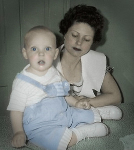 Marian (Werner) Humma, with her son Jeb Alan Humma (born 1959).