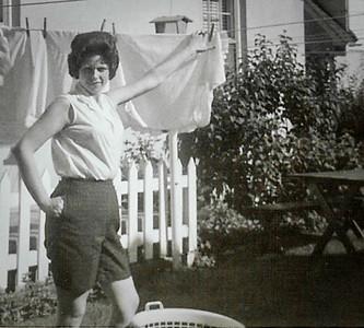 Marian (Werner) Humma, behind their home in Gouglersville, PA.