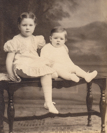 Marian Werner (later Humma) with brother Donald Werner.
