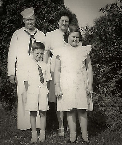Claude and Virginia (Yeich) Werner with their children, Marian (Later Humma) and Donald Werner.
