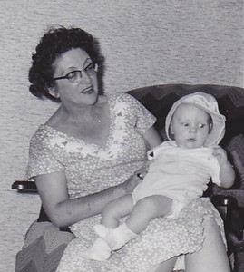 Virginia (Yeich) Werner with grandson Jeb Humma.