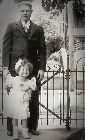 Claude Werner with his daughter Marian (later Humma)