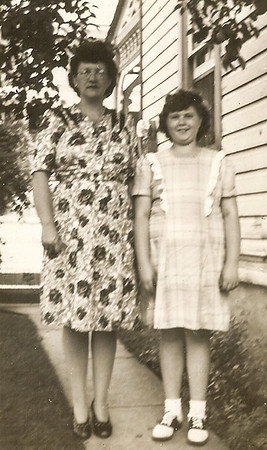 Virginia (Yeich) Werner with daughter Marian. (Marian born 1933).