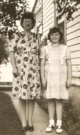 Virginia (Yeich) Werner with daughter Marian. (Marian born 1933).