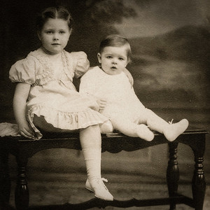 Marian and Donald Werner, daughter and son of Claude and Virginia (Yeich) Werner.