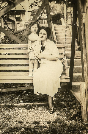 Marian Werner (later Humma) with her mother Virginia (Yeich) Werner.