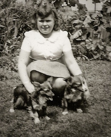 Marian Werner (later Humma). She always loved her dogs.