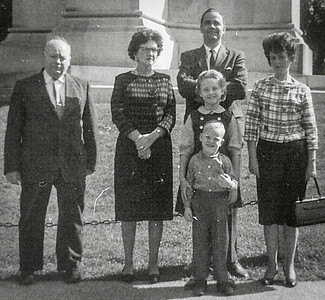 Claude Heft Werner with his wife Virginia Anetta (Yeich) Werner, and their daughter's family. Ronald, Marian (Werner), with children Cathy and Jeb.