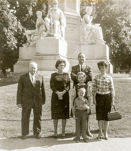 Claude and Virginia (Yeich) Werner with daughter's family; Ronald, Marian, Cathy and Jeb, around 1963, in Gettysburg, PA.