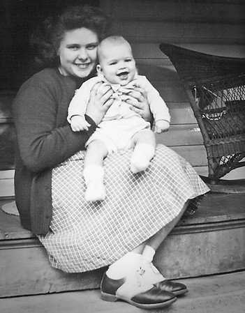 Marian Werner (later Humma) with her youngest brother Steve Werner.