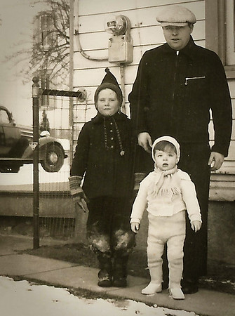 Claud Werner with his children Marian (later Humma) and Donald Werner.