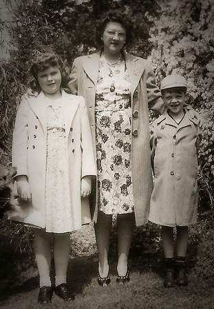 Virginia (Yeich) Werner with her children, Marian (Later Humma) and Donald Werner.