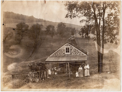 L-R: Virginia (Yeich) Werner, Lulla V. (Gray) Whitman and her daughter Lulu G. (S?) (Whitman) Yeich, and Mildred (Yeich) Strouse. Virginia and Mildred are Lulu's daughters.  Photo taken c. 1916 near Plowville, PA.
