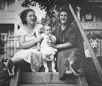Virginia (Yeich) Werner, Marian Werner and Mildred Yeich, 1934.