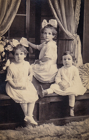 Mildred, Virginia & Donald Yeich. Photo taken July 24, 1919, the summer following their parents death.