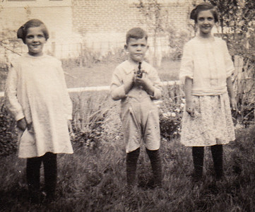 Yeich children : Mildred, Donald and Virginia at 632 Lancaster Ave. Oakbrook