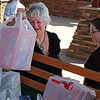 "Creative Arts Director Christina Fuhr reminded folks that even if they forgot that this was the ""Truckin' for the Food Pantry"" weekend, the pickups would be out front all morning -- allowing folks time to visit a grocery store and return with their donation.<br /> <br /> And it worked.  We saw many folks return with their generous donations."