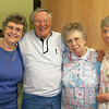 Left-to-right are Past president Cherie Miller, Monte Stensland, Betty Stensland, and Jill Anderson.