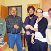 <i><b>QUEEN CITY LIONS CLUB - December 2011</b></i>  Queen City Lions Club is one of the latest local organizations to provide assistance to the Spearfish Community Food Pantry.  During the first week of December 2011 they presented a check for $185 to help the pantry carry out its work -- AND they brought  in 25 pounds of food, too! Left-to-right in the photo are:  pantry board member Richard Hauk, pantry Treasurer Larry Weiers, Queen City Lions members Vicky Glatt and Traci Bratt, and pantry board member Cathy Inghram. Thanks Queen City Lions Club!