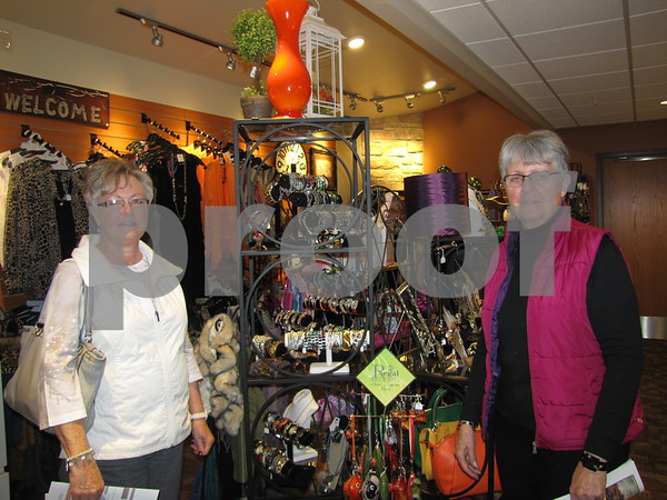 Joan Wiese and Janet Kinne browsed the gift shop while attending the Friendship Haven Open House.