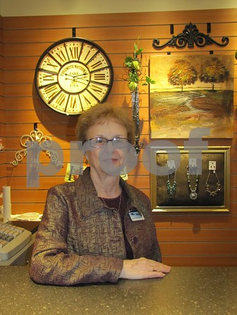 Mary Cervine offers a warm welcome to the Gift Shop at Friendship Haven.