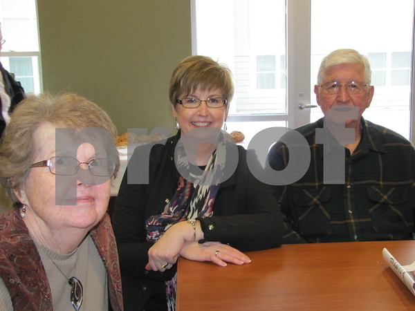 Annette Julson (center) with her parents Carol and Roy Dillon at the Simpson Health Center open house.