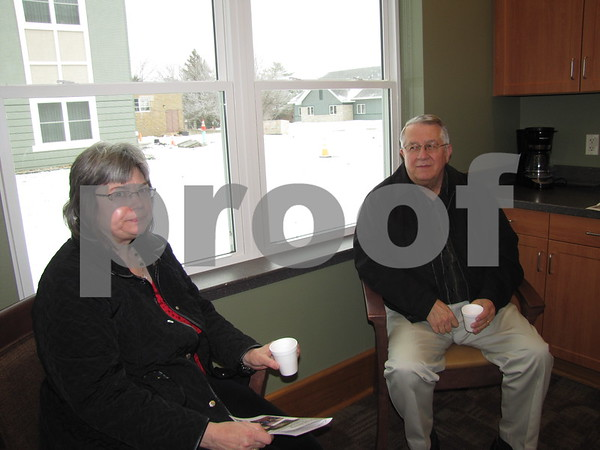 Karen and Dennis Anderson enjoy refreshments while attending the open house.