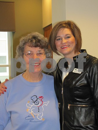 Mary Casey with Julie Thorson, Friendship Haven's CEO.