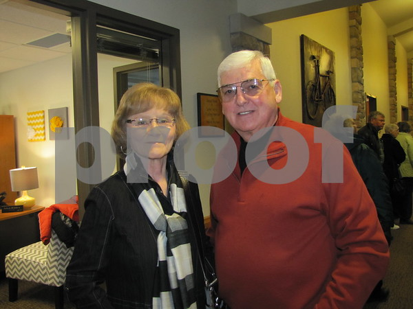 Joan and Ron Newsum before they begin the tour.