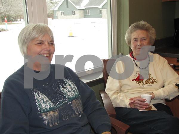 Marlene Nelson with her mother, Evelene Abrams.