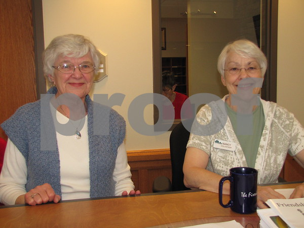 Alice Wiles and Nancy Peterson were volunteers welcoming visitors to the Friendship Haven Open House.
