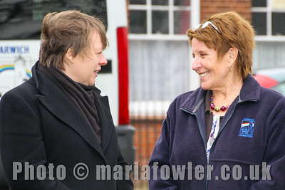 Shadow Secretary of State for Transport Maria Eagle MP, with Debbie Rotchell, Harwich Connexions.