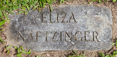 Eliza Naftzinger, born about 1844, daughter of Joseph and Catherine (Dieffenbach) Naftzinger.