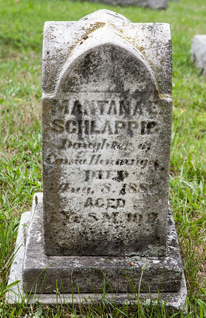 Mantana E. Schlappig, 28 Nov 1884 - 8 Aug 1886, daughter of Urias Schlappig and Catherine Henninger.