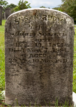 Susan Rudy, 19 Dev 1851 - 7 Nov 1881, daugter of Henry Rudy and Catherine (nee?). Her first husband was Nathan Christ, with whom she bore Laura Kate and Clinton A. Christ. Her second husband was John Adam Schrack, which whom she bore Charles Henry Schrack.