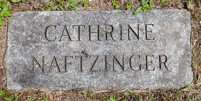 Catherine Naftzinger, 21 Jun 1833 - 28 Jul 1833, daughter of Joseph and Catherine (Dieffenbach) Naftzinger.