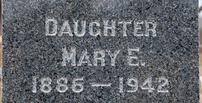 Daughter Mare E. Schrack 1886 - 1942