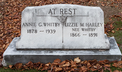 Annie G. Whitby, 1878 - 1939 and Lizzie M. Harley (nee Whitby), 1866 - 1891