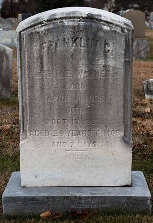Franklin C. Wanner, born April 1865, died Oct 13, 1889...