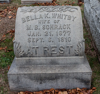Bella K. Whitby, wife of M.B. Schrack, 1877 - 1910