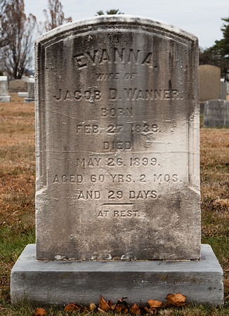 Evanna, wife of Jacob D. Wanner, 1839 - 1899