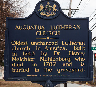 Augustus Lutheran Church (Historical sign)