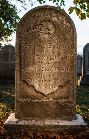 Samuel Schrack,  Oct 5, 1810... Dec 6, 1880...