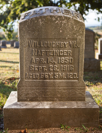Willoughby W. Naftzinger, Apr. 14, 1850, Sept 26, 1916...