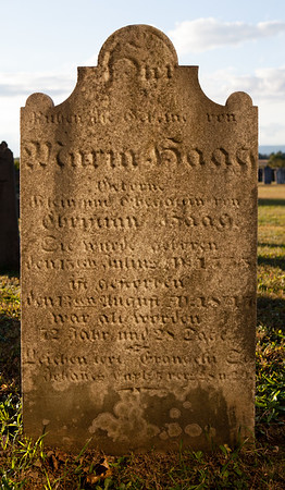 Maria Haag ... wife of Christian(?) Haag.  (Is this the same as Mary (nee) Klein) b. 15 July 1775, died 13 Aug 1847??)